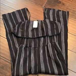 NWT A New Day Size Medium Black Stripe Jumpsuit